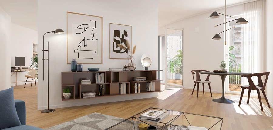 BUWOG SPEICHERBALLETT, Havelkiesel, Wohnung Visualisierung Innen, Wohnzimmer