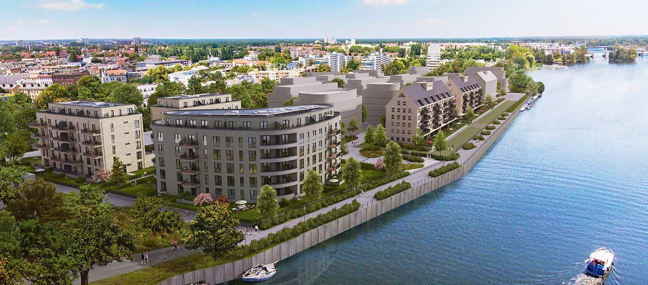 BUWOG SPEICHERBALLETT, Architektur Visualisierung, Gebäude: Havelkiesel / Denkmalspeicher, Ufer der Havel Berlin Spandau